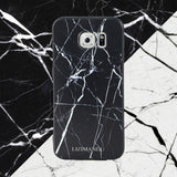 Samsung Galaxy S6 Case,Lizimandu Soft TPU textured pattern Case for Samsung Galaxy S6(Marble Black)