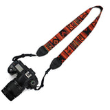 LIZI MANDU Vintage Soft Multi Anti-Slip DSLR Camera Neck/Shoulder Strap for Canon, Nikon, Sony, Panasonic, FujiFilm, Olympus and more Digital SLR Camera Universal(Red Bohemia)