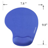 Memory Foam Non Slip Mouse Pad Wrist Rest For Office, Computer, Laptop & Mac - Durable & Comfortable & Lightweight For Easy Typing & Pain Relief-Ergonomic Support(Blue)