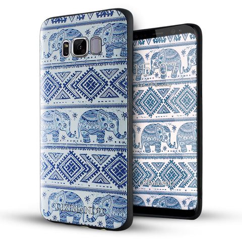 Samsung Galaxy S8 Case,Lizimandu Soft TPU textured pattern Case for Samsung Galaxy S8(Elephant)