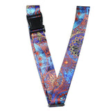 LIZI MANDU Luggage Strap Suitcase Belts Adjustable belt Travel Bag Accessories(Blue Flower)