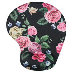 LIZI MANDU Memory Foam Non Slip Mouse Pad Wrist Rest For Office, Computer, Laptop & Mac - Durable & Comfortable & Lightweight For Easy Typing & Pain Relief-Ergonomic Support(Black Rose)