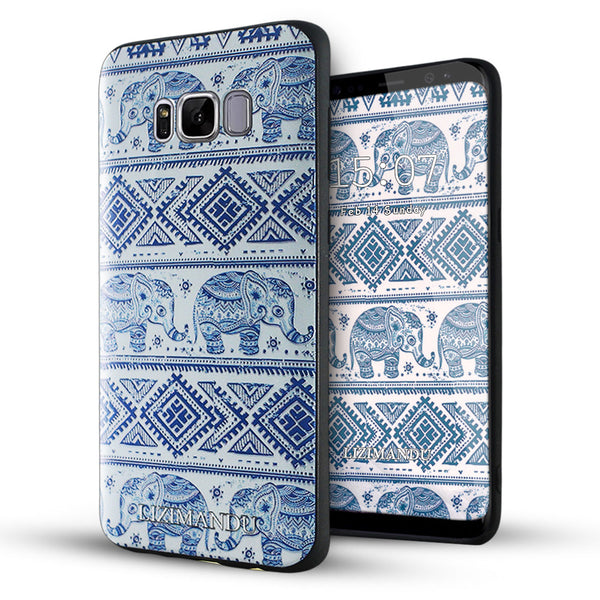 Samsung Galaxy S8 Plus Case,LIZI MANDU Soft TPU textured pattern Case for Samsung Galaxy S8 Plus(Elephant)