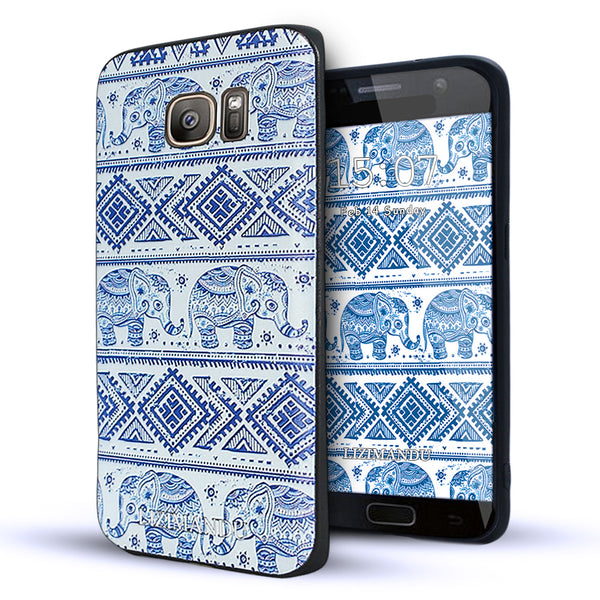 Samsung Galaxy S7 Edge case,LIZI MANDU TPU 3d pattern Case for Samsung Galaxy S7 Edge(Elephant)