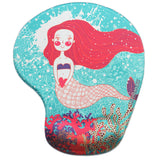 LIZI MANDU Memory Foam Non Slip Mouse Pad Wrist Rest For Office, Computer, Laptop & Mac - Durable & Comfortable & Lightweight For Easy Typing & Pain Relief-Ergonomic Support(Sea Mermaid)
