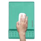 LIZI MANDU Memory Foam Non Slip Mouse Pad Wrist Rest - Durable & Comfortable & Lightweight For Easy Typing & Pain Relief-Ergonomic Support(Green)