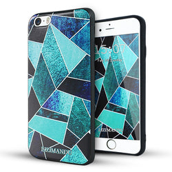 iphone 6s plus case,iphone 6 plus case,LIZI MANDU soft TPU textured pattern Case for iphone 6 plus/6s plus(Green Fragment)