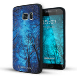 Samsung Galaxy S7 Case,LIZI MANDU Soft TPU textured pattern Case for Samsung Galaxy S7(Drak Forest)