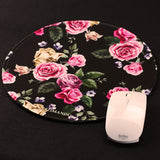 Mouse Pad (9.8 inch x 9.8 inch) ,LIZI MANDU Premium Quality Pattern Anti Slip Computer PC Round Mouse Mat Soft Comfort Feel Finish(Black Background Rose)