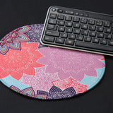 Mouse Pad (9.8 inch x 9.8 inch) ,LIZI MANDU Premium Quality Pattern Anti Slip Computer PC Round Mouse Mat Soft Comfort Feel Finish(Colorful Gear)