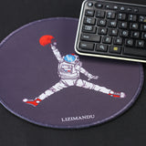 Mouse Pad (9.8 inch x 9.8 inch) ,Lizimandu Premium Quality Pattern Anti Slip Computer PC Round Mouse Mat Soft Comfort Feel Finish(Space Dunk)