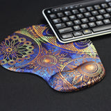 LIZI MANDU Memory Foam Non Slip Mouse Pad Wrist Rest For Office, Computer, Laptop & Mac - Durable & Comfortable & Lightweight For Easy Typing & Pain Relief-Ergonomic Support(Blue Flower)