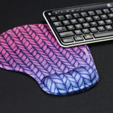 LIZI MANDU Memory Foam Non Slip Mouse Pad Wrist Rest For Office, Computer, Laptop & Mac - Durable & Comfortable & Lightweight For Easy Typing & Pain Relief-Ergonomic Support(Gradient Rope)