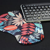 LIZI MANDU Memory Foam Non Slip Mouse Pad Wrist Rest For Office, Computer, Laptop & Mac - Durable & Comfortable & Lightweight For Easy Typing & Pain Relief-Ergonomic Support(Maple Leaves)