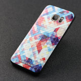 Samsung Galaxy S7 Edge case,LIZI MANDU TPU 3d pattern Case for Samsung Galaxy S7 Edge(Colorful Pizzle)