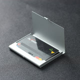 LIZI MANDU Credit Card Holder - Business Card Holders - Credit Card Holder Business ID Card Case(Black Leaves)