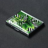 LIZI MANDU Art Stainless Steel ID or Cigarettes Case and 100's Cigarette(Leaves)