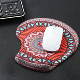 LIZI MANDU Memory Foam Non Slip Mouse Pad Wrist Rest For Office, Computer, Laptop & Mac - Durable & Comfortable & Lightweight For Easy Typing & Pain Relief-Ergonomic Support(Drak Red Compass)