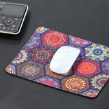 Mouse Pad(10.2 inch x 8.2 inch) ,LIZI MANDU Premium Quality Pattern Anti Slip Computer PC Gaming Mouse Mat Soft Comfort Feel Finish(Hexagonal Boho)