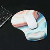 LIZI MANDU Memory Foam Non Slip Mouse Pad Wrist Rest For Office, Computer, Laptop & Mac - Durable & Comfortable & Lightweight For Easy Typing & Pain Relief-Ergonomic Support(Jade Stone)