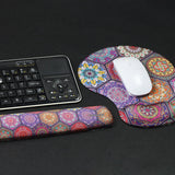LIZI MANDU Keyboard Wrist Rest Pad and Mouse Wrist Rest Support Mouse Pad - Ergonomic Support - Premium Quality Foam - Durable & Comfortable & Lightweight For Easy Typing & Pain Relief(Hexagon Bohemia)