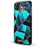 Samsung Galaxy S6 Case,Lizimandu Soft TPU textured pattern Case for Samsung Galaxy S6(Green Fragment)