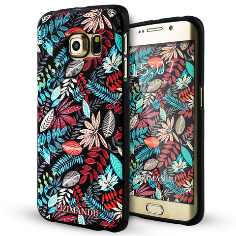Samsung Galaxy S6 Edge Textured Soft Case (Maple Leaves)