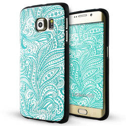 Samsung Galaxy S6 Edge Case,LIZI MANDU Soft TPU Textured Pattern Case for Samsung Galaxy S6 edge(Spiral)
