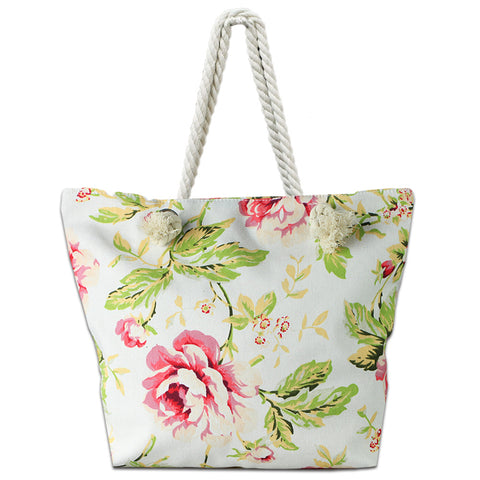 adfcccd4e Tote with Rope Handles Lizimandu Beach Bag Canvas Tote Bag With Inner  Zipper Pocket Luggage ...