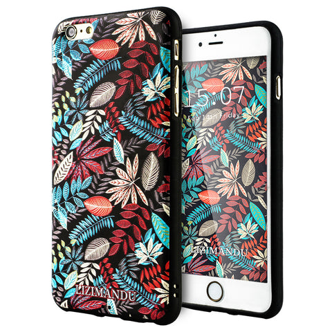 iPhone 6 / 6s Textured Soft Case (Maple Leaves)
