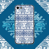 iPhone 8 Case, iPhone 7 Case, LIZI MANDU TPU Texture Pattern Case for iPhone 7 8(Elephant)