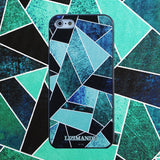 iPhone 5 / 5s / 5se Textured Soft Case (Green Fragment)