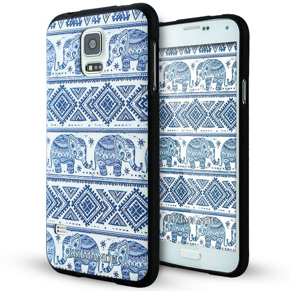 Samsung Galaxy S5 case,LIZI MANDU soft TPU textured pattern Case for Samsung Galaxy S5(Elephant)