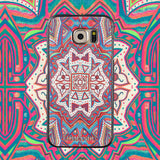 Samsung Galaxy S6 Case,LIZI MANDU Soft TPU textured pattern Case for Samsung Galaxy S6(Maya Totem)