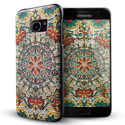Samsung Galaxy S7 Edge case,LIZI MANDU TPU 3d pattern Case for Samsung Galaxy S7 Edge(Mysterious Totem)