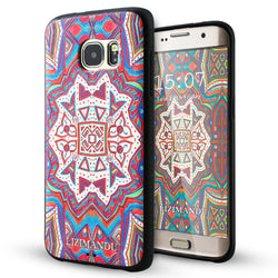 Samsung Galaxy S7 Edge case,LIZI MANDUTPU 3d pattern Case for Samsung Galaxy S7 Edge(Maya Totem)