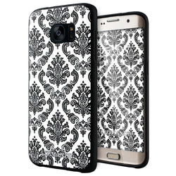 Samsung Galaxy S7 Edge case,LIZI MANDU TPU 3d pattern Case for Samsung Galaxy S7 Edge(Lace Flower Black)