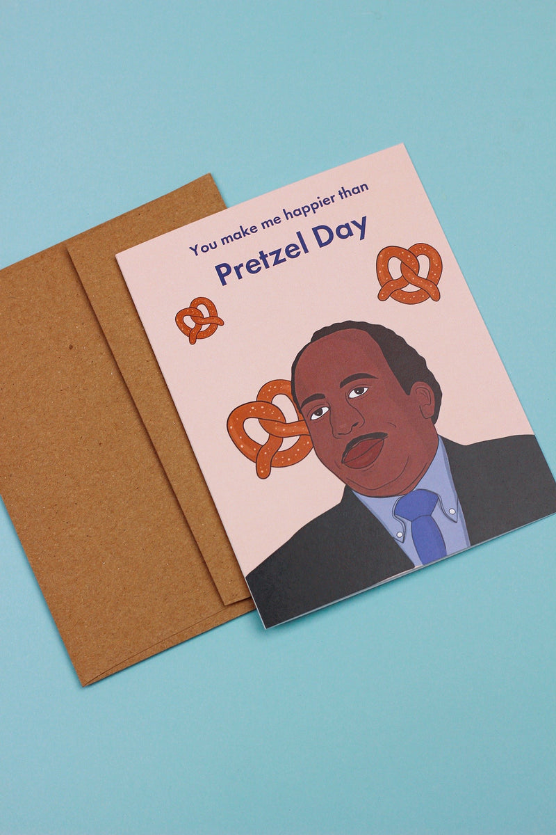 STANLEY PRETZEL DAY CARD