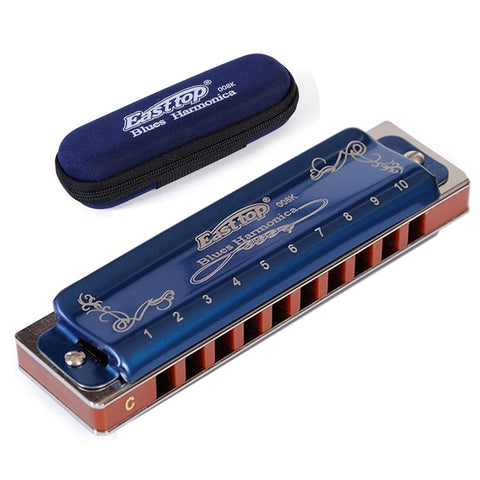 Easttop Harmonica Diatonic 10 Holes Armonica Blues Harp C D E F G A B  Key  Mouth Ogan Musical Instrument  professional gaita
