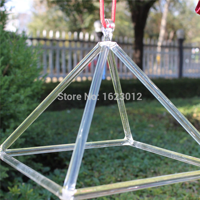 6 inches natural crystal pyramid for sound healing music therapy and chakra balancing