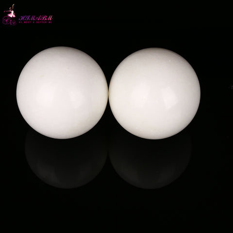 HIMABM Natural 50mm white jade hand massage Exercise Meditation Stress Relief Handball Fitness Ball Health healing reiki balls