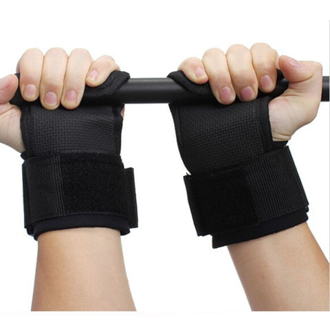 1 Pair Weightlifting Gym Wrist Wraps Fitness Hands Pads Equipment Lifting Training Straps Anti-slip Weight Lifting Tools