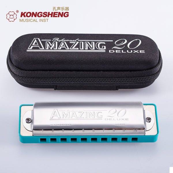 KONGSHENG Harmonica Diatonic 10 Holes Blues Harp C D E F G A Bb Key Mouth Ogan Musical Instrument professional