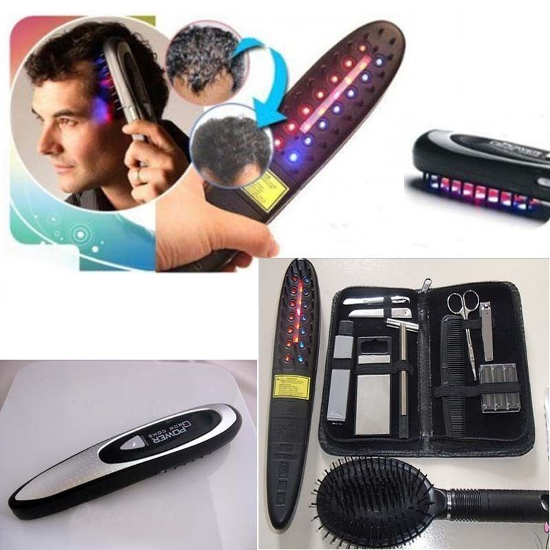 Laser Infrared Treatment Power Grow Comb Massage Kit Stop Hair Loss Hot Regrow Therapy New Hair Growing Care Tools