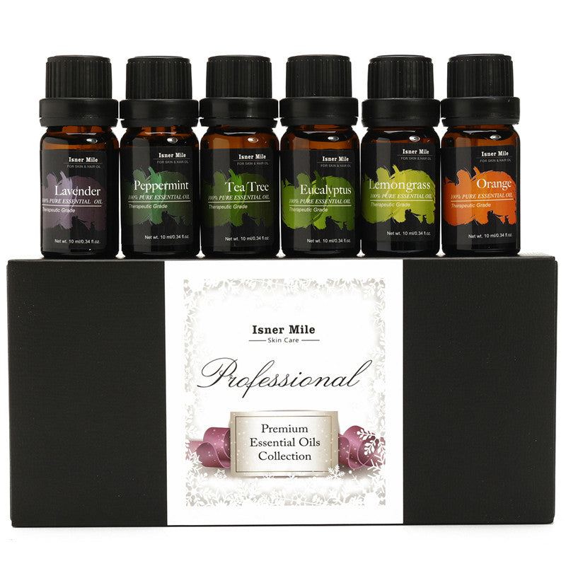 6Pcs/set 100% Natural Aromatherapy Diffusers Massage Pure Essential Oil Organic Body Massage Relax 10ml Fragrance Oil Skin Care