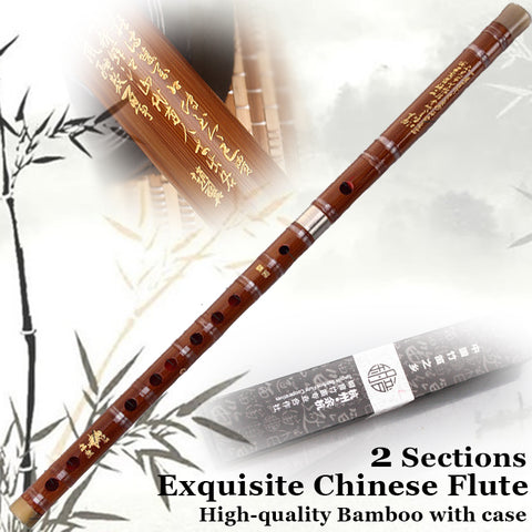 Chinese Bamboo Flute Dizi Traditional Musical Instrument Professional Flauta Key C/D/E/F/G Case,Dimo,Chinese Knot,Glue As Gift