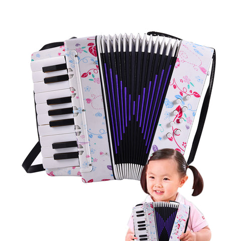 Professional 17 Key 8 Bass Mini Accordion With Adjustable Strap Educational Musical Instrument For Kids Children Toy Gift
