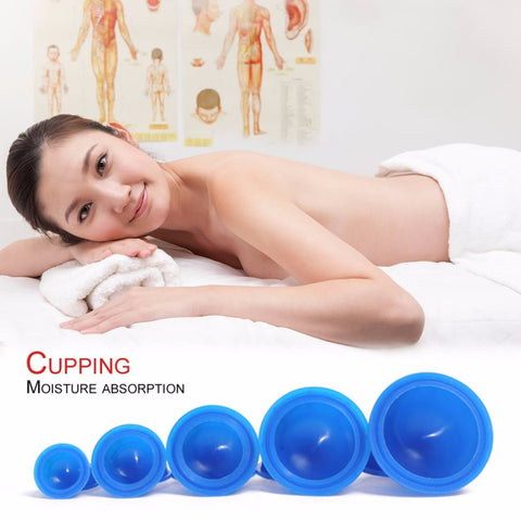 12pcs/set Body Massager Helper Anti Cellulite Silicone Vacuum Cupping Cup Family Health Care Massage Therapy Cups Tool Easy Use