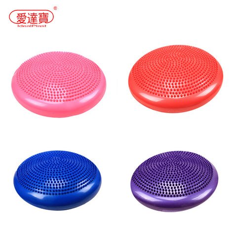 1PCs 33cm Inflatable Yoga Wobble Stability Balance Ball Massage Cushion Mat Stepping Stones Physical Fitness Training Equipment