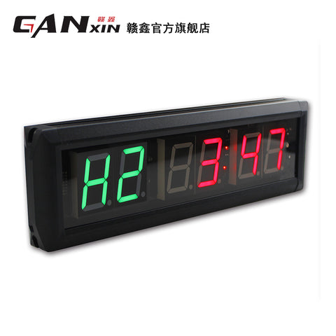 [Ganxin] 1.8'' Physical Yoga Fitness Crossfit Training Equipment Six Digit Portable Gym timer